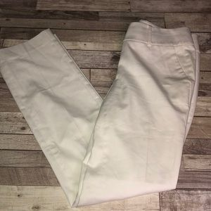 Ann Taylor white straight pants